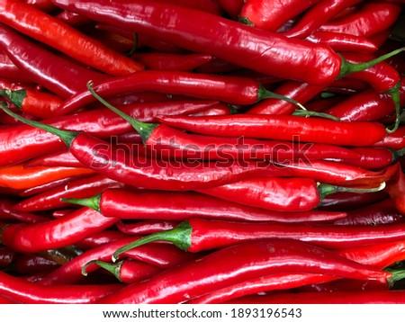 Macro photo vegetable hot chilli pepper. Stock photo fresh red chilli hot pepper