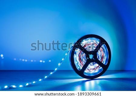 led strip blue light roll Royalty-Free Stock Photo #1893309661