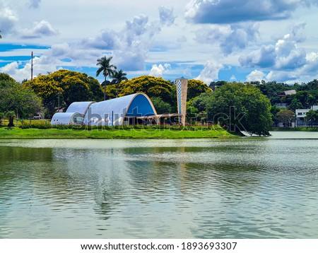 Pampulha Lagoon in Belo Horizonte, Minas Gerais Royalty-Free Stock Photo #1893693307