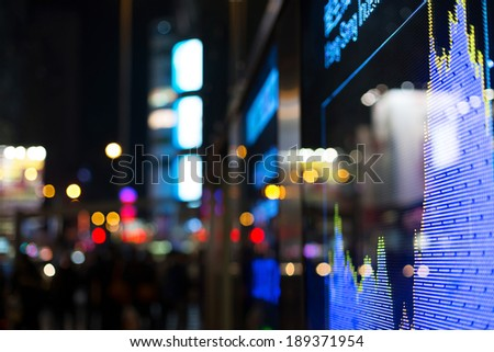 Display of Stock market quotes  #189371954