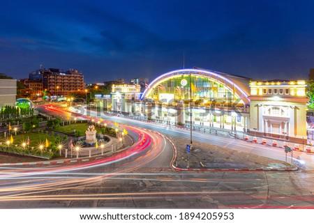 Hua lamphong train station at night time, Bangkok, Thailand Royalty-Free Stock Photo #1894205953