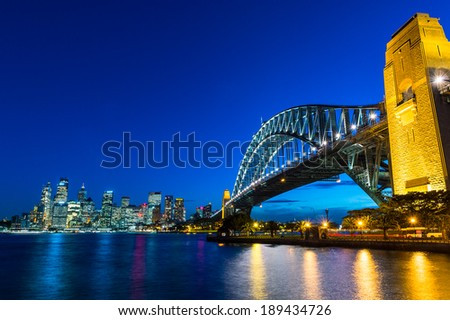 Sydney Harbour Bridge,  Sydney Harbour Royalty-Free Stock Photo #189434726