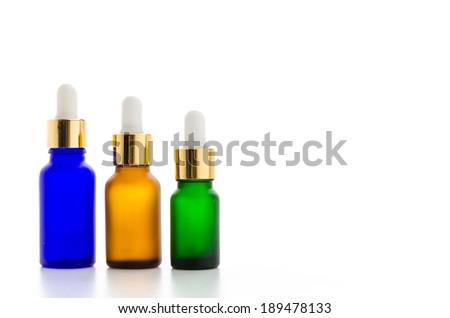 Cosmetics bottles isolated on white #189478133