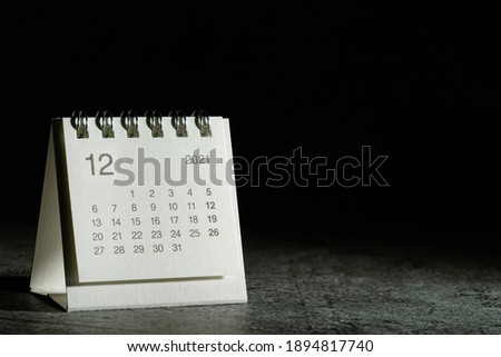 2021 December calendar on black background Royalty-Free Stock Photo #1894817740