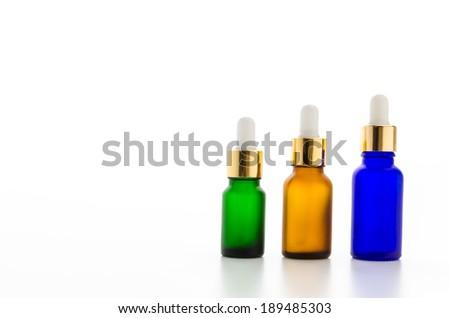 Cosmetics bottles isolated on white #189485303