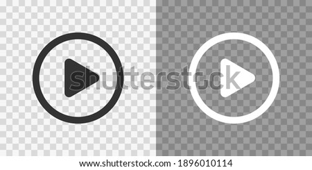Play button icons on transparent backdrop. Digita webl vector illustration Royalty-Free Stock Photo #1896010114