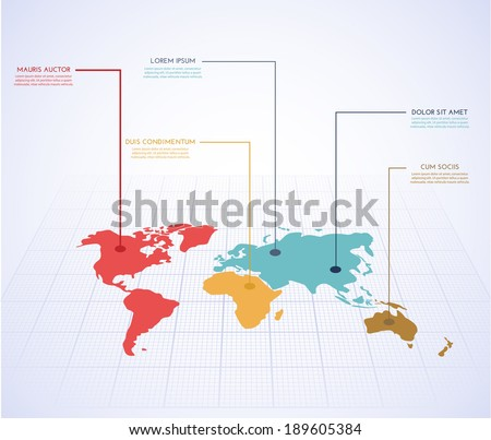 World map infographics. Vector eps10.