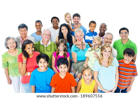 Large Group of People Royalty-Free Stock Photo #189607556