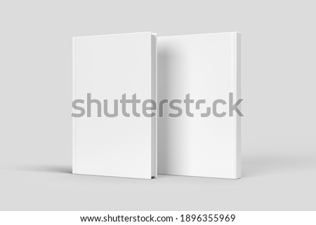 Two Standing Hardcover Books Mock-up
