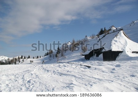 Winter landscape on a hill-top #189636086