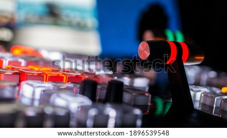 Video switcher of Television Broadcast Royalty-Free Stock Photo #1896539548