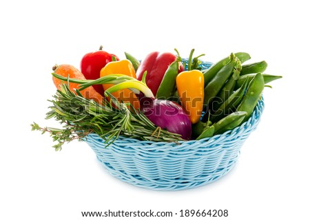 basket with mixed vegetables #189664208