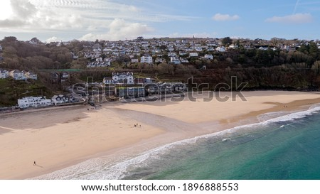 Carbis Bay in Cornwall where the G7 Summit will be taking place in June Royalty-Free Stock Photo #1896888553