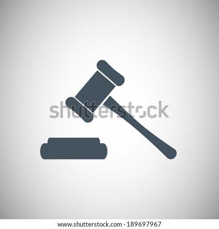 Hammer judge icon