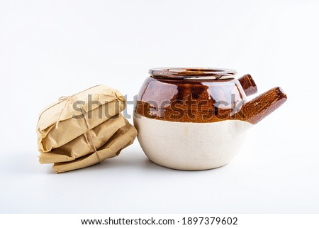 Medicine jar and medicine packet Royalty-Free Stock Photo #1897379602