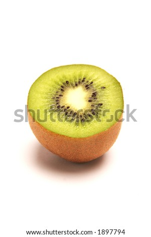Kiwi Fruit half on a white background #1897794