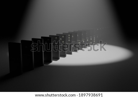 Domino White Black Bone Road Game