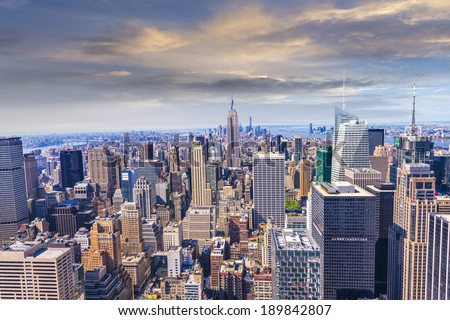 Beautiful view of  New York City skyline. #189842807