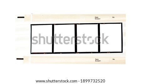 Contact sheet of Medium format color film frame.With white space.
