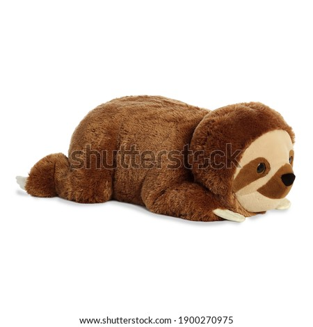 Buttercream Sloth Stuffed Animal Isolated on White. Toddler Soft Squishy Plushies. Baby Plush Friend Toy Sitting on the Floor. 25 Inch Polyester Fabric Stuffed Toys or Stuffies. Cuddle Buddy