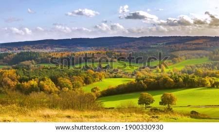 The beautiful colours of Surrey Hills Royalty-Free Stock Photo #1900330930
