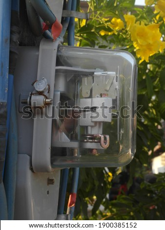 Watthour meter of electricity for use in home appliance.This is a modern technology that can monitor the home's electrical energy consumption.Electricity meter.