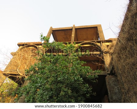 Derelict site of a 300 room 5 star abandoned hotel in Goa, India Royalty-Free Stock Photo #1900845682