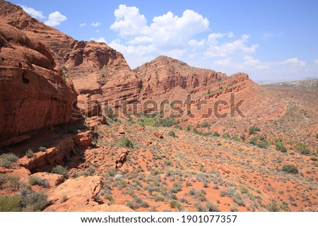Red Cliffs Recreation Area, National Conservation Lands, Utah, USA Royalty-Free Stock Photo #1901077357