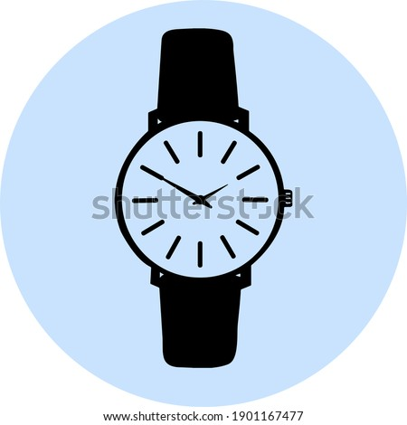 Beautiful Abstract Watch clip art isolated on white background