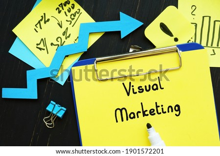 Financial concept about Visual Marketing with inscription on the page.