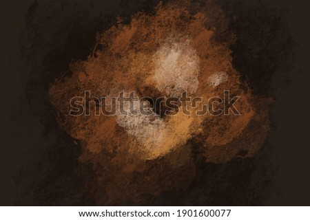 Abstract dark background. Large strokes of paint on a rough texture. Grunge abstraction. Painting on a rough canvas. Dark brown rough texture. Grunge art. Painting on the wall. Royalty-Free Stock Photo #1901600077