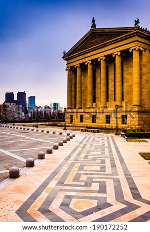 The Art Museum and skyline in Philadelphia, Pennsylvania.
