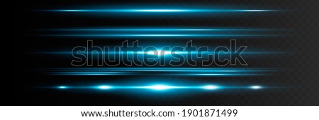 Red horizontal lens flares pack. Laser beams, horizontal light rays.Beautiful light flares. Glowing streaks on dark background. Luminous abstract sparkling lined background Royalty-Free Stock Photo #1901871499