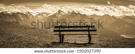 view from Schmitten mountain in Austria - near Zell am See - photo Royalty-Free Stock Photo #1902037390