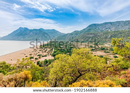 Turkish village between Mediterranean Sea and Taurus Mountains - Cirali, Antalya Province, Turkey, Asia Royalty-Free Stock Photo #1902166888