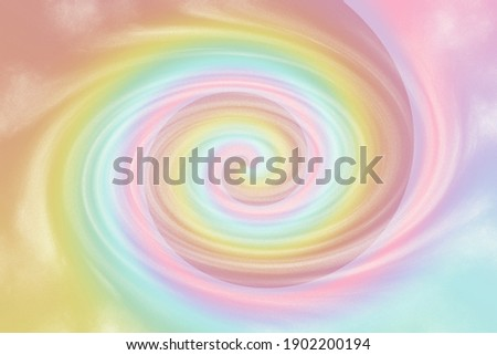Swirl vortex Pastel tie die rainbow background with soft colorful swirl. illustration for your graphic design. Royalty-Free Stock Photo #1902200194