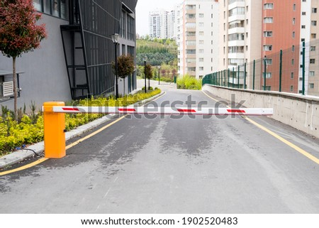 Automatic barrier for security system. Royalty-Free Stock Photo #1902520483