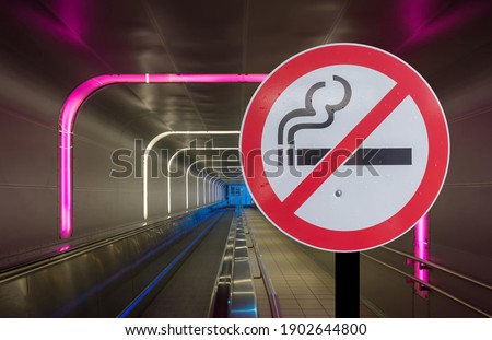No smoking, prohibited signs in public houses, corridors, rooms, public areas, roads, sidewalks Separate clip part.