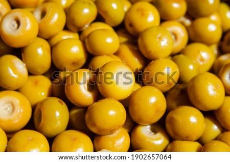 Fruits of Byrsonima crassifolia or nance