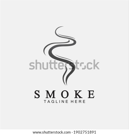 Smoke steam icon logo illustration isolated on white background,Aroma vaporize icons. Smells vector line icon, hot aroma, stink or cooking steam symbols, smelling or vapor Royalty-Free Stock Photo #1902751891