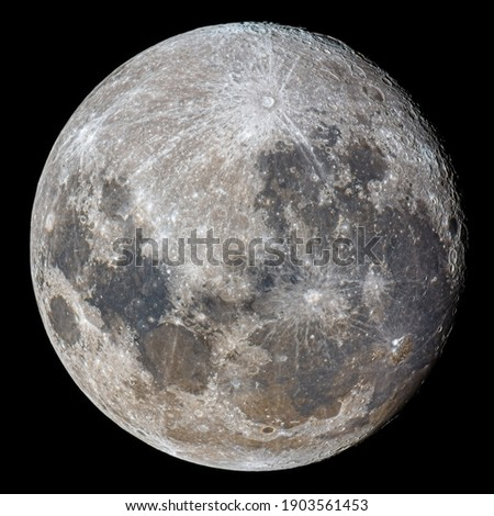 Mineral Full Moon Close Up Photography Royalty-Free Stock Photo #1903561453