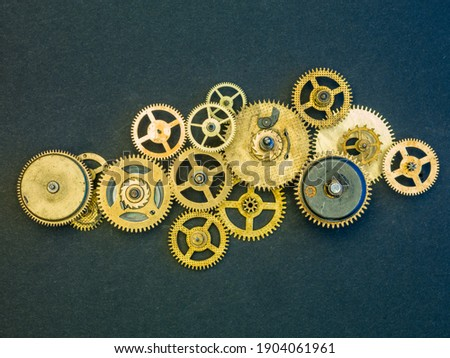 Mechanical design mechanism close up, background Royalty-Free Stock Photo #1904061961