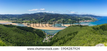 The biosphere reserve of Urdaibai in the Basque Country Royalty-Free Stock Photo #1904287924