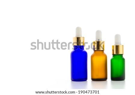 Cosmetics bottles isolated on white #190473701