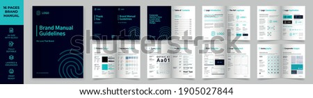 Brand Manual Template, Simple style and modern layout Brand Book, Brand Identity, Brand Guideline, Guide Book Royalty-Free Stock Photo #1905027844