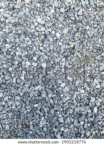 Dolomite on the ground, closeup picture, mineral road