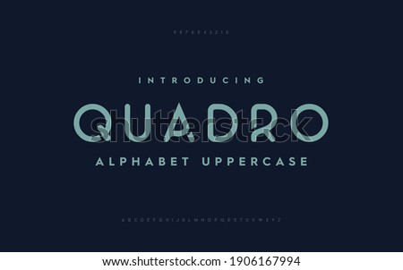 Typography technology electronic future creative font. Alphabet designs fonts set a to z. Rounded fonts typeface. Royalty-Free Stock Photo #1906167994
