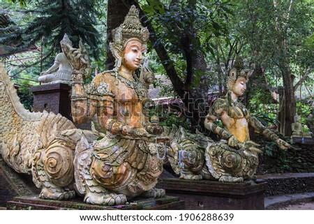 Mystic creatures at Wat Pha Lat, Chiang Mai, Thailand. Royalty-Free Stock Photo #1906288639