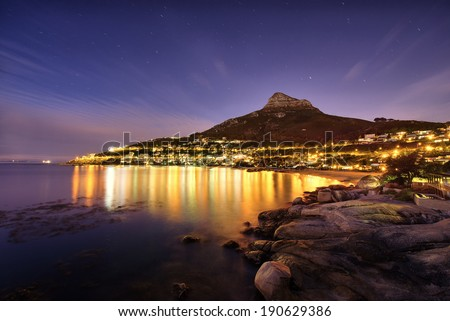 Cape Town's Table Mountain, Lions head & Twelve Apostles are popular hiking destinations for both locals and tourists all year round. Royalty-Free Stock Photo #190629386
