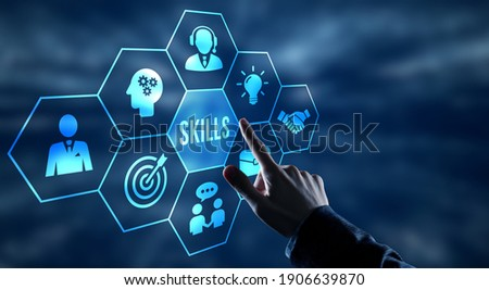 Internet, business, Technology and network concept.Coach motivation to skills improvement. Education concept. Training. Leadership skills. Human abilities.   Royalty-Free Stock Photo #1906639870